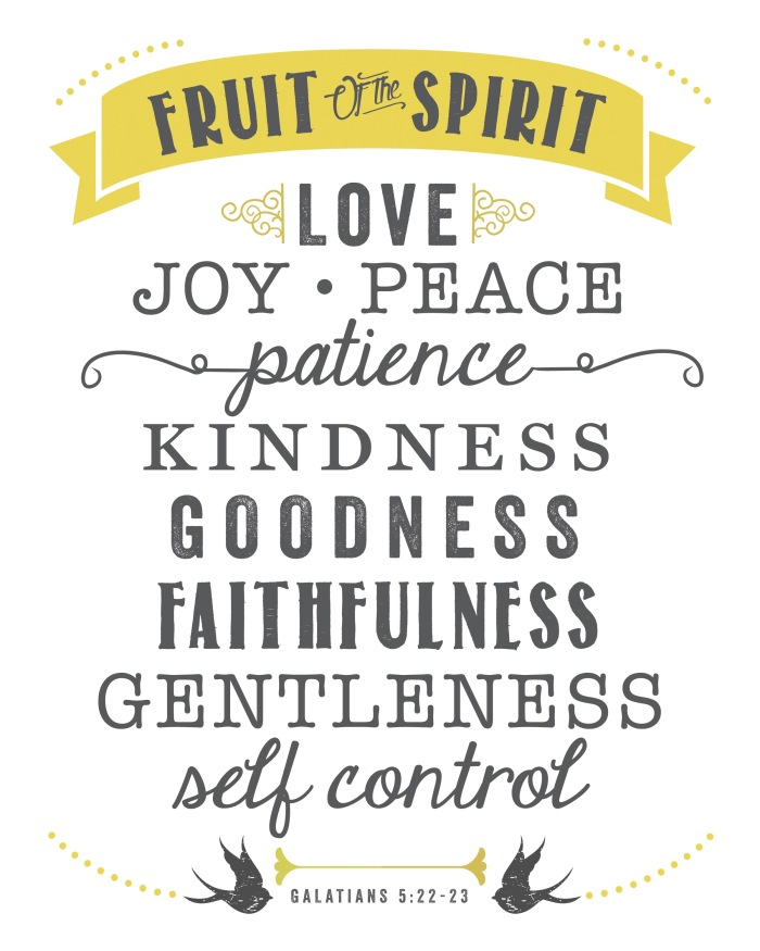 The Fruits Of The Spirit Do Not Include Secrets.