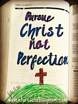 pursue Christ not perfection